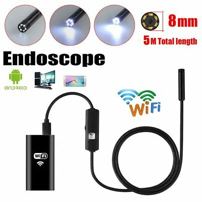 5M WIFI 6LED 8mm IP67 Android Endoscope Borescope Inspection Camera For Iphone
