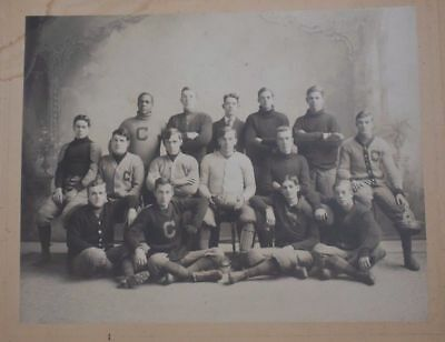 1908 Colby College Maine Integrated Football Team Mounted Photo Negro Player