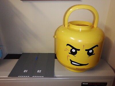 Lego Head LARGE Store Storage Container With Heaps of Lego Good Condition