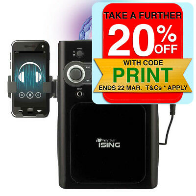 iSing Tablet & Phone Compatible Karaoke Machine w/ Mic/Bluetooth/Disco Light