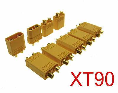 10 Pairs Female Male XT90 Banana Bullet Connector Plug For RC LiPo Battery
