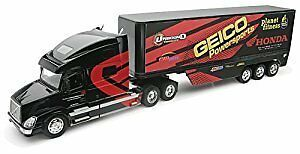 New Rays Toys, Geico Factory Racing Semi Trailer and Truck:1.32