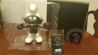 "How2Work Ultra Rare 11"" Black Smurf Limited Edition Impossible to Find MIB"