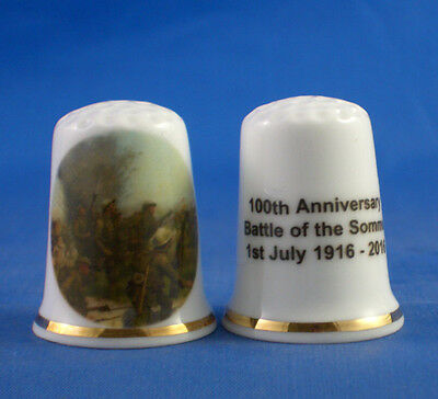 Birchcroft China Thimble - Battle of the Somme 100th Anniversary - Free Dome Box