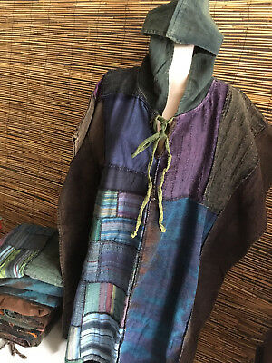 LOT OF 4 STONE WASH COTTON PONCHO.BIG FIT.UNISEX.suit travel,casual,walking.