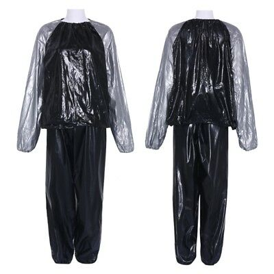 Sweat Women/Men Track Weight-lossing Thin Sauna Suit Exercise Gym