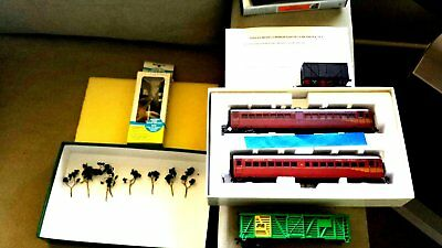 Eureka 623/723 Only ***  Later Period  , Tuscan  Red , Weathered Train Set,