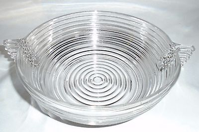 VTG Anchor Hocking 1938-1943 Manhattan Clear Glass Salad Bowl 9-1/8""