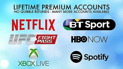 UFC Fight Pass Lifetime Subscription. 1yr Warranty, (Netflix, BT Sport, WWE)