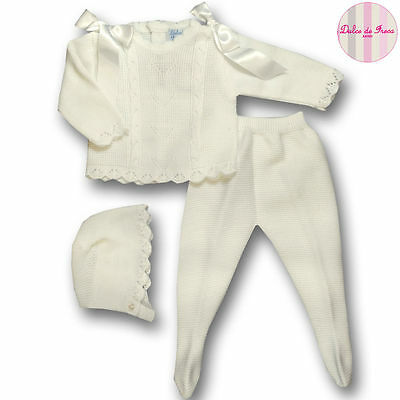 Spanish Baby Clothing Girl Boy Designer Knit Outfit 3m