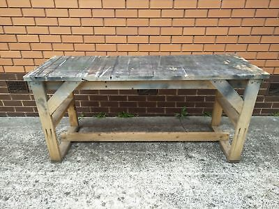 Used Timber Work Bench