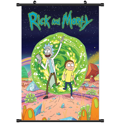 Anime Ricky Rick and Morty wall Poster Scroll 3252