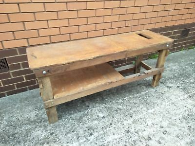 Old Timber Work Bench (TV Stand?)
