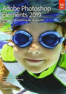 Adobe Photoshop Elements 2019 1 PC | oder Mac Vollversion Download DE EU