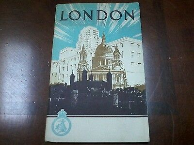 1949 London Travel Booklet with Fold Out Map