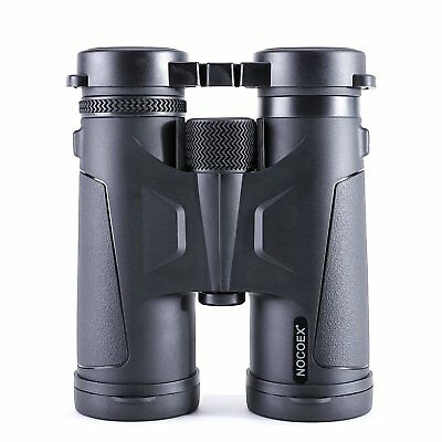 NOCOEX Binoculars , Professional 10x42 BAK4 Prism Roof Optics - Black