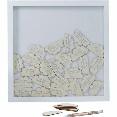 Ginger Ray Drop Top Wooden Frame Alternative Guest Book Wedding 70 Hearts