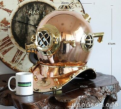 DIVING HELMET SOLID BRASS & COPPER US NAVY - Selling in Retail Stores for $1200