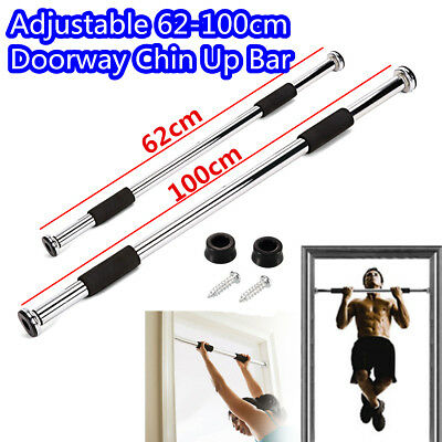 Body Fitness Door Exercise Home Gym Adjustable Pull Up Sit Chin Up Bar Workout