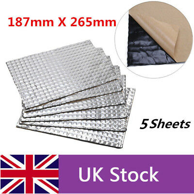 5 Sheets 265mm*187mm*4mm Car Deadening Vibration Sound Proofing Damping Mat