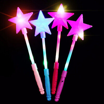 LED Flashing Magic stick Wand Five-pointed Star Fairy Wand For Kid Girl Toy