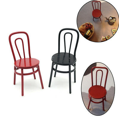1:12 Scale Dollhouse Miniature Metal Chair Furniture