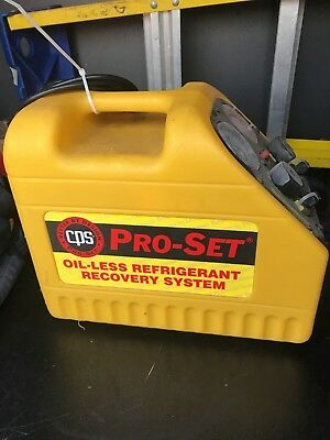 Pro-set Oil-less Refrigerant Recovery System