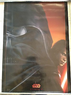 STAR WARS episode III original teaser movie poster 27x40 double sided