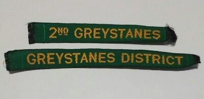 2nd Greystanes & Greystanes District name tapes