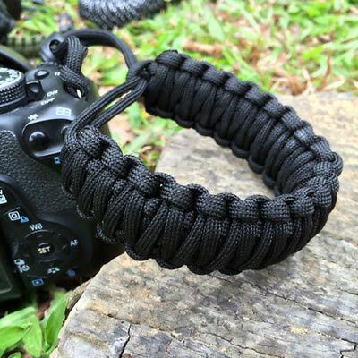 A Strong Camera Adjustable Wrist Lanyard Strap Grip Weave Cord for Paracord DSLR