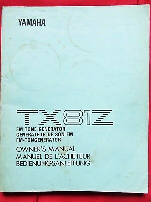 Yamaha TX81Z Owners Manual