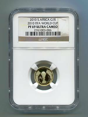 NGC 2010 South Africa Gold R1 Official Fifa Proof Coin Graded Pf 69 Ultra Cameo