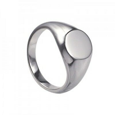 Youths /boys 925 Sterling Silver Plain Oval Shaped Signet Ring- Sizes H, N Or R
