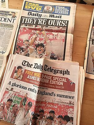 The Ashes Victory Sept 13th 2005 Daily Mail and Daily Telegraph