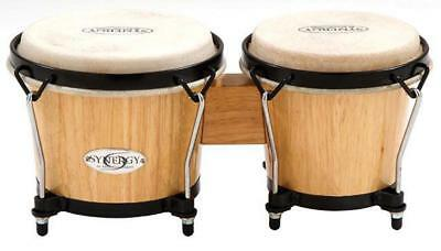"""Toca 6 & 6-3/4"""" Synergy Series Wooden Bongos in Natural"""