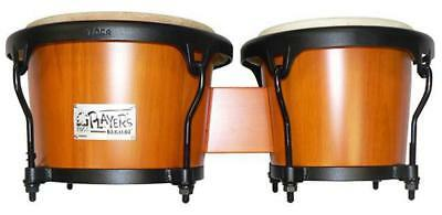 """Toca 7 & 8-1/2"""" Players Series Wooden Bongos in Amber"""