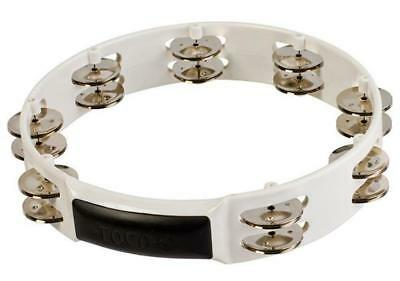 "Toca Players Series 10"" PVC Shell Tambourine with Double Nickel Plated Jingles"