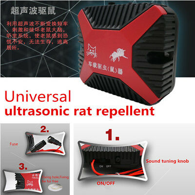 Double Ultrasonic Auto Car SUV Engine Vehicle Mouse Chaser Monitor Rats Repeller