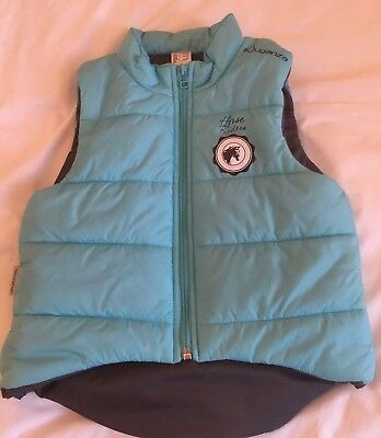 Fouganza Girl's Horse Riding Padded Vest/Gilet Age 9-10 Years