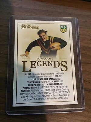 2015 Traders - Ron Coote Legends Case Card