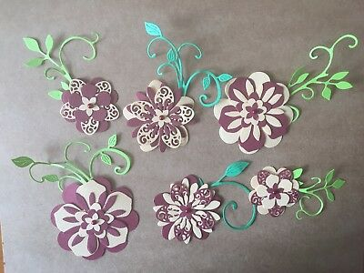 Scrapbooking Die Cuts 6 x Flower Set Die Cuts