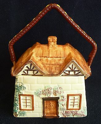 Charming Cottage Ware Pottery  17 cm Biscuit / Cookie Jar