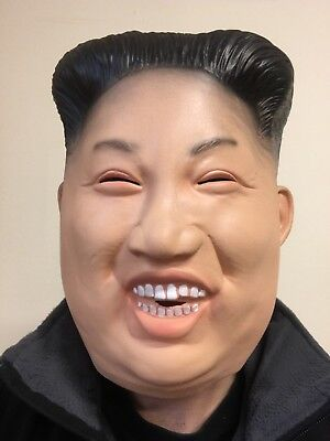 Funny Laughing Kim Jong Mask Latex Full Head Korean Dictator Fancy Dress Costume