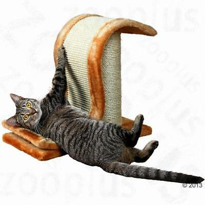 Pet Cat Scratch WAVE With Scratching Post Compact Mat SISAL Wrapped Fun Play New
