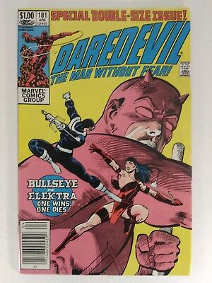 DAREDEVIL #181 (Apr 1982, Marvel) Frank Miller Death of Elektra Bullseye