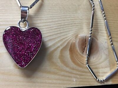 Cremation memorial ashes heart pendent in sterling silver customised necklace