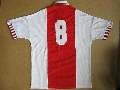 1997-98 Ajax Umbro Match Issue Home Shirt #8 *Near Mint* XL