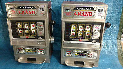 LOT 2x WACO GRAND CASINO SLOT MACHINES TWINS MADE IN JAPAN ANNI '80 VINTAGE