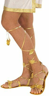 Golden Sandals Accessory for Toga Party Rome Sparticus Fancy Dress