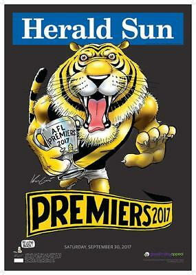 2017 Richmond Black Limited Edition Premiers Premiership Mark Knight Poster